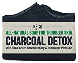 Charcoal Black Soap Bar with Shea Butter for Face, Acne, Blackheads, Eczema, Psoriasis | 100% All-Natural Vegan....