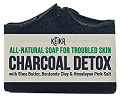 Protect your skin from toxins by switching to an all-natural, vegan Activated Charcoal detox soap bar. ► PERFECT FOR TROUBLED SKIN  We created our Charcoal Detox soap to help you deal with skin trouble. It acts as a cleaner for acne-prone ski...