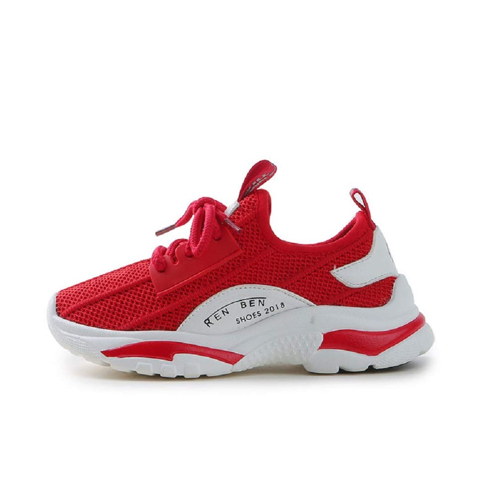 dae11be24bb Amazon.com  RENBEN Toddler Athletic Shoes Kids Breather Running Lace-up  Sneakers For Girls  Clothing