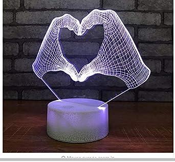Led cama de acrílico personalizado 3D pequeñas luces nocturnas ...