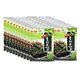 Fresh Korean Seaweed Laver Gimbab, Sushi Nori Snacks, Roasted with Olive Oil, 20 Large Packs