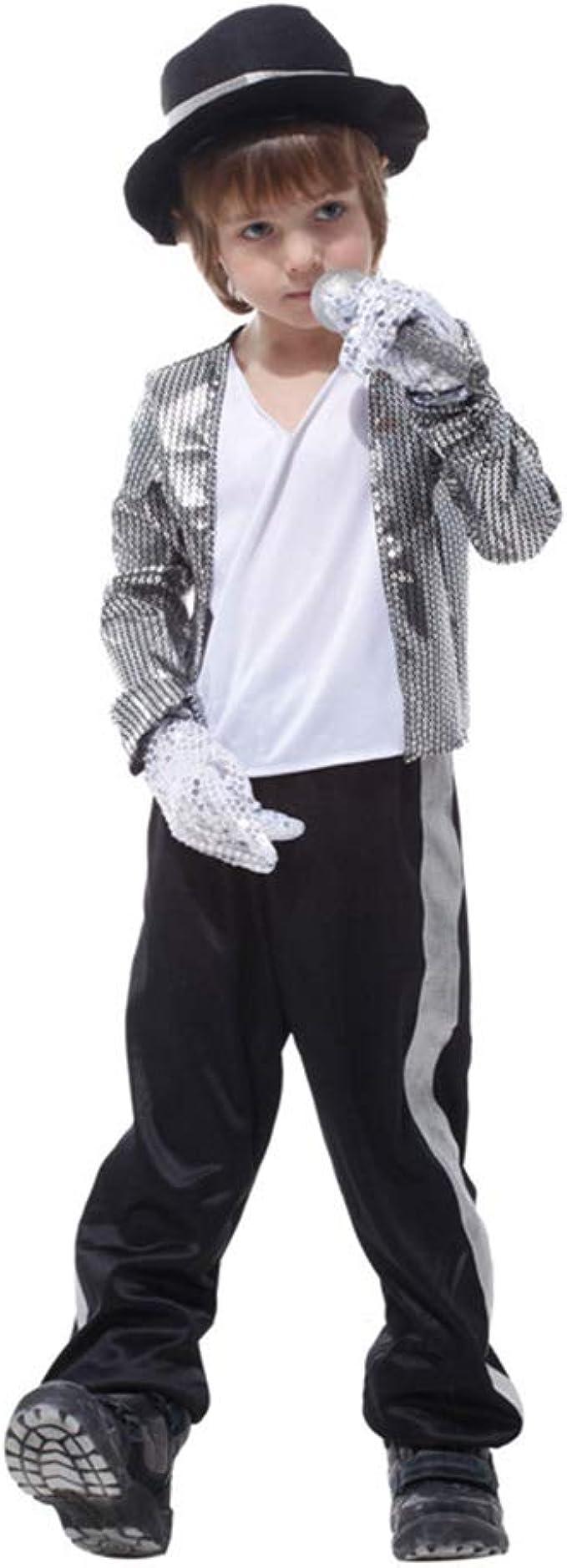 LJA Niños Niños Michael Jackson Cosplay Disfraz Día de los niños ...