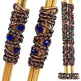 2 Freeform Dread Beads - Copper Loc Jewelry - Dreadlocks Hair Accessory