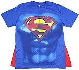 Best bioworld batman Capes - DC Comics Superman Muscle and Cape Costume T-shirt Review