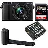 PANASONIC LUMIX GX9 4K Mirrorless with 12-60mm plus DMW-HGR2 Authentic LUMIX GX9 Camera Grip Bundle (Black)
