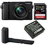 Cheap PANASONIC LUMIX GX9 4K Mirrorless with 12-60mm Plus DMW-HGR2 Authentic LUMIX GX9 Camera Grip Bundle