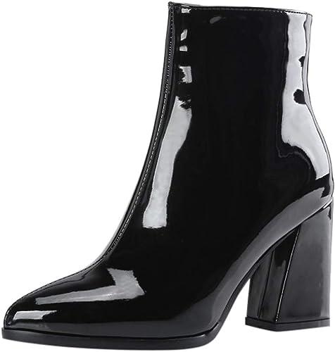 Ladies Boots Women High Heels Patent