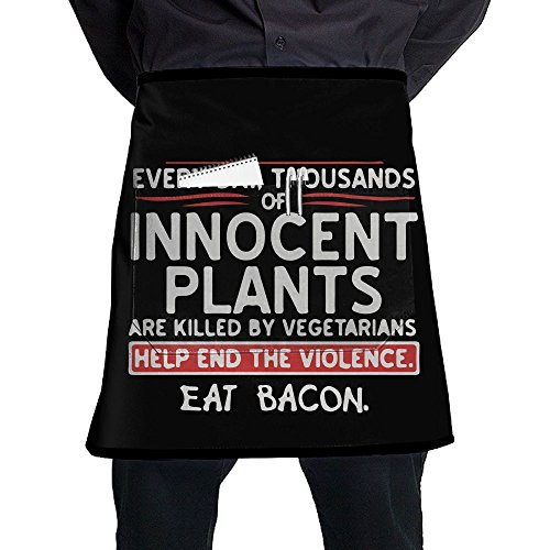 XiHuan Grill Aprons Kitchen Chef Bib Eat Bacon Professional For BBQ Baking Cooking For Men Women Pockets