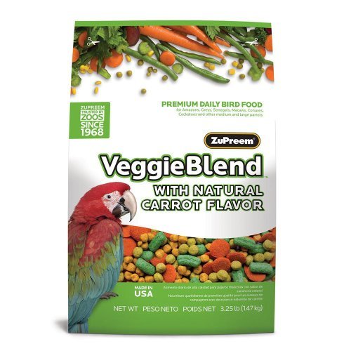 ZUPREEM 230361 Veggieblend Caged Medium and Large Bird Food, 3.25-Pound