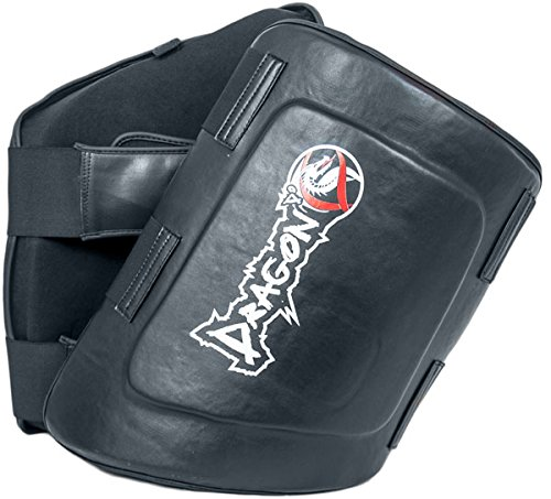 Thigh Pads - Dragon Do - Best For Kickboxing UFC Muay Thai MMA Training - High Protection - Black