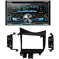 Kenwood DPX592BT Double-Din CD Receiver with USB Interface & Bluetooth With Metra 95-7862 Double DIN Installation Dash Kit for Honda Accord (Black)