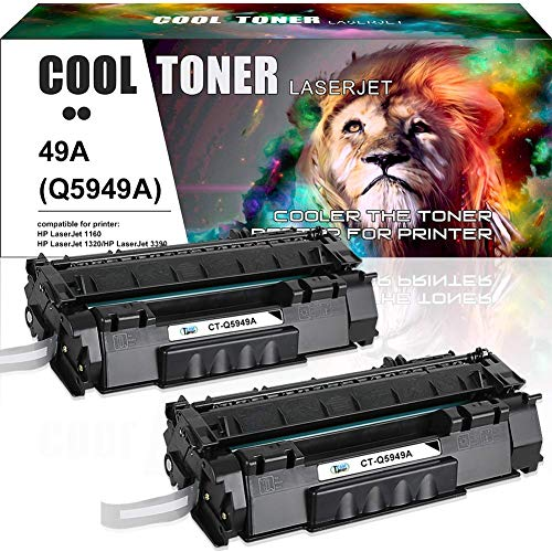 Cool Toner Compatible Toner Cartridge Replacement for HP 49A Q5949A 49X Q5949X for HP Laserjet 1320 1320N 1320TN 1320NW 3390 P2015 P2015DN 3392 HP Laserjet MFP M2727nfs M2727 Printer (Black, 2 Packs) (Laserjet M2727 Hp Mfp)