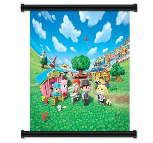 Animal Crossing: New Leaf Game Fabric Wall Scroll Poster  In