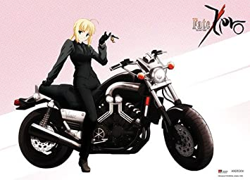 Great Eastern Entertainment Fate Zero Saber on Motorcycle Wall Scroll, 33 by 44-Inch