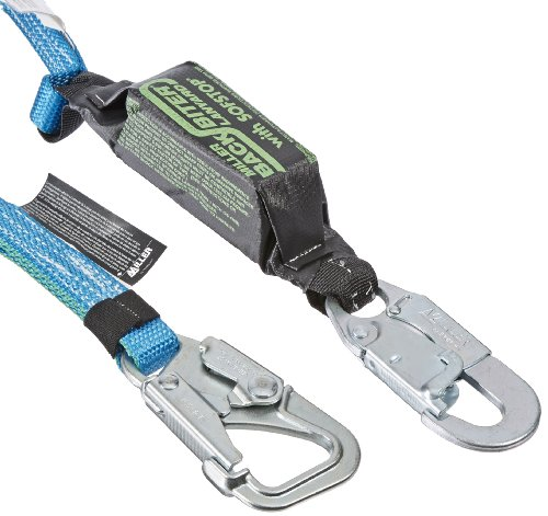 - Miller by Honeywell 910BD/6FTBL 6-Feet BackBiter Tie-Back Adjustable Web Lanyard with One Locking Snap Hook and One 5K Snap Hook, Blue