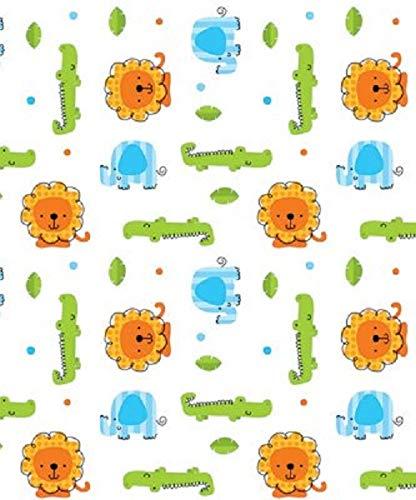Sweet Safari Babies Gift Wrapping Paper Flat Sheet - 24