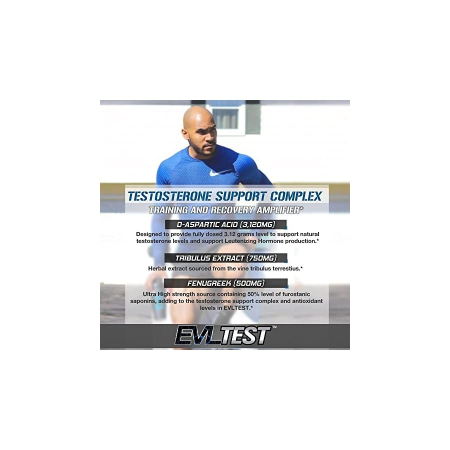 Evlution Nutrition Testosterone Booster EVL Test Training & Recovery Amplifier* Supports Natural Testosterone Levels, Muscular Strength, Stamina & Optimal Sleep, 30 Servings (1 Pack)