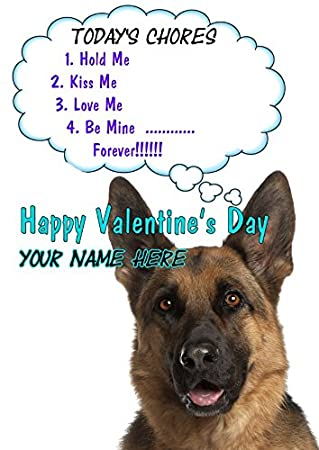 German shepherd dog tv356 fun cute valentines day card a5 german shepherd dog tv356 fun cute valentines day card a5 personalised greeting card m4hsunfo