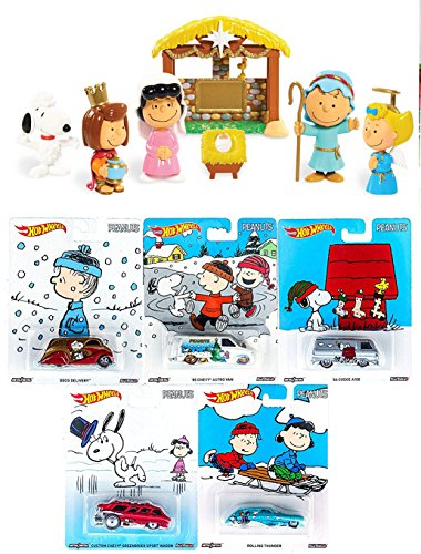 Peanuts Christmas Figures + Hot Wheels Edition - Officially Licensed Collectibles - Real Rider (Ford Classic Blanket)