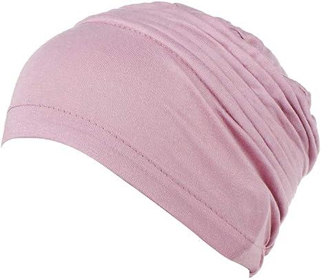 Ssowun Mujeres Pañuelo Musulmán Turbantes Algodón Elástico Sombrero para Quimio y Oncológicos: Amazon.es: Deportes y aire libre