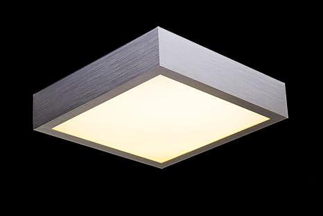 Plafonnier carré pour salle de bain LED - 3000 Kelvin - 1200 Lumen ...