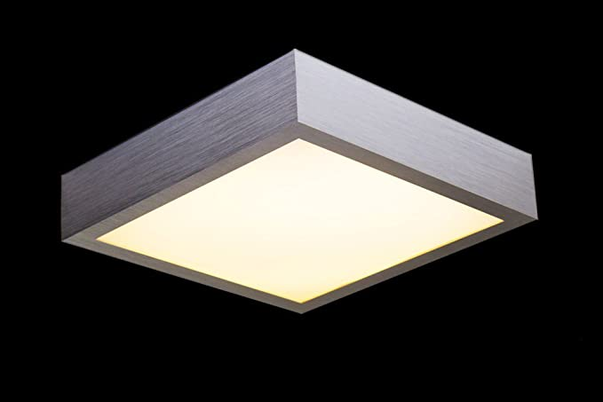 Plafoniera Quadrata Led : Led plafoniera quadrata watt policarbonato alluminio