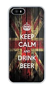 Keep Calm And Drink Beer - Personalized Crystal Clear Enamel Hard Back Shell Case Cover Skin for iPhone 4/4S