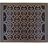 Hamilton Sinkler HVT-1214-BP Hamilton Sinkler Scroll Floor Vent with Damper, 12 by 14-Inch, Bronze Patina