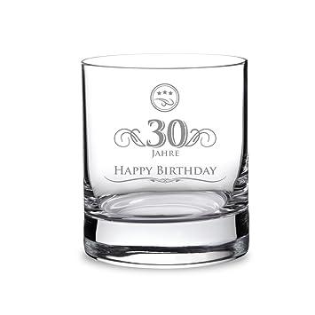 AMAVEL Whiskyglas mit Gravur zum 30. Geburtstag – Elegant – 30 ...