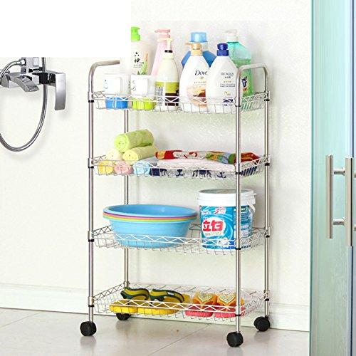Stainless steel bathroom shelf /Bathroom/toilet storage rack/towel rack/Floor stand-B durable modeling