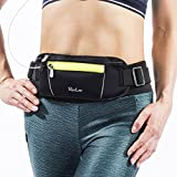 RooLee Running Belt Waist Pack Waist Bag Waterproof & Breathable with High Capacity, Adjustable Belt, Headphone Jack, Reflective for Night Safety Black Review