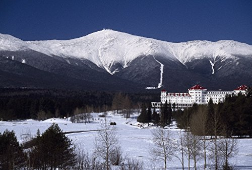 Vintography 8 x 12 Photo Wintertime View The Mount Washington Hotel Resort in The White Mountains, Bretton Woods, New Hampshire a1152