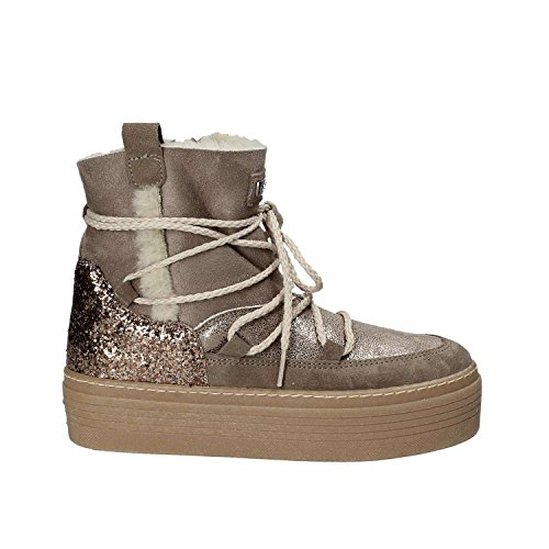 Guess Boots Grey Fur Claudia Brown