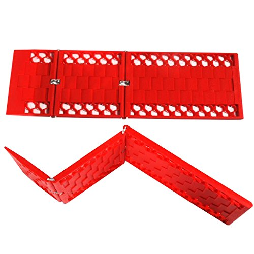 WawaAuto Car Escaper, Foldable Traction Mat, Ideal to Unstuck Your Car From Snow, Ice, Mud, and Sand -2 Pack