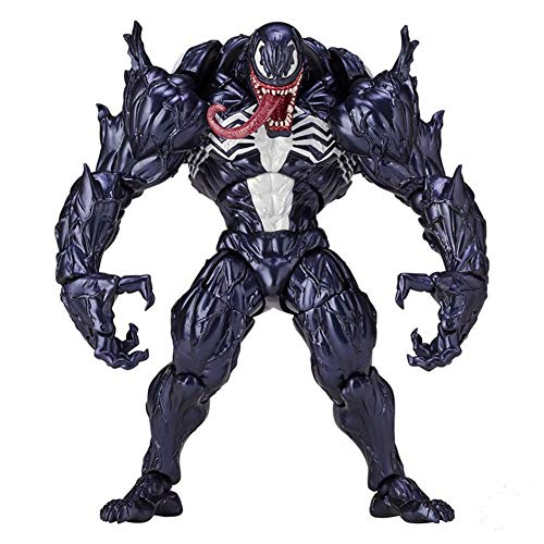 - Purple GO2 Marvel Spider-Man Venom Edward Brock Revoltech PVC Action Figure Model Toys Gift