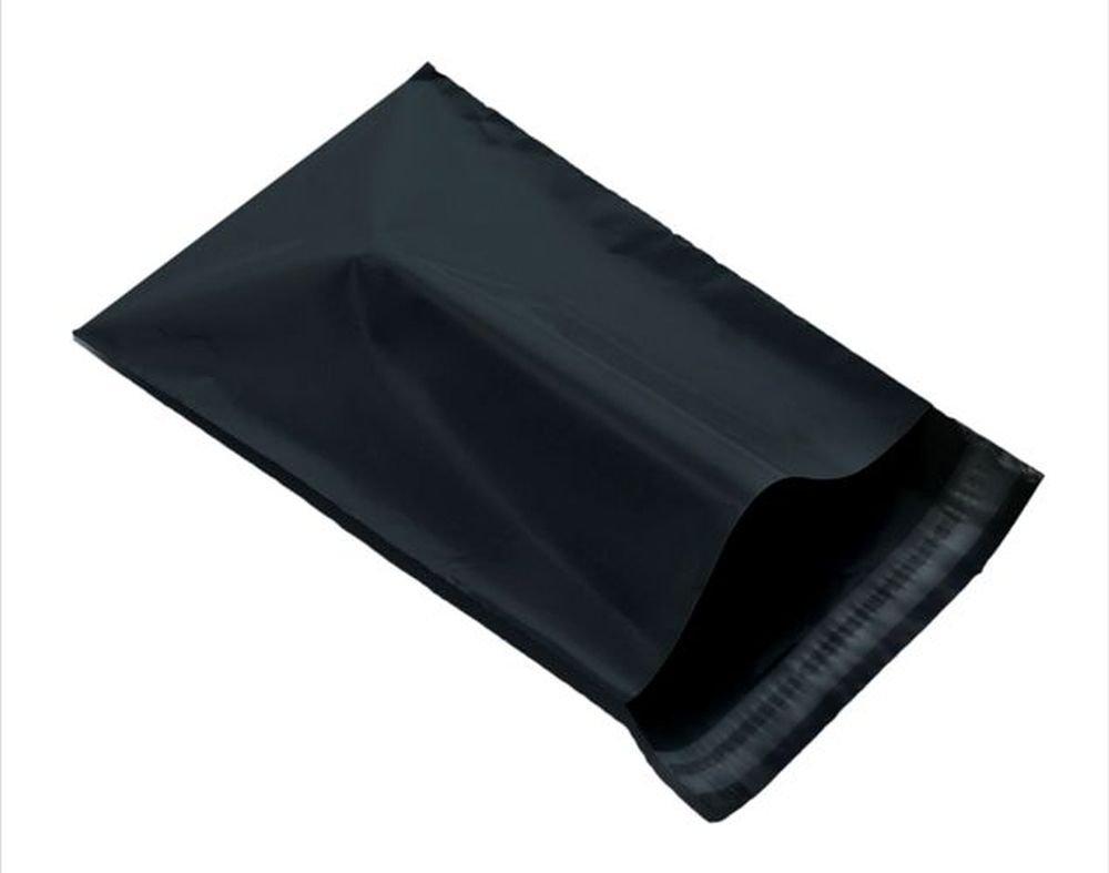 Black 12 x 16 305 x 406mm Mailing Postage Postal Mail Bags 100