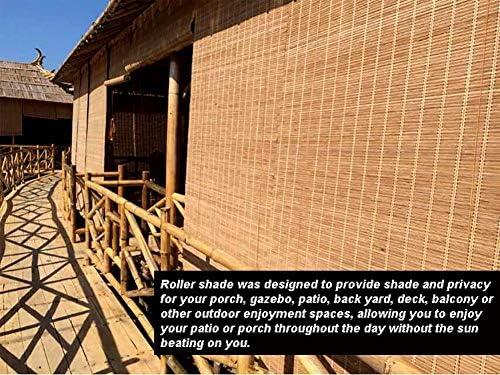 Persiana de bambú Persianas Enrollables Exteriores para Balcones ...