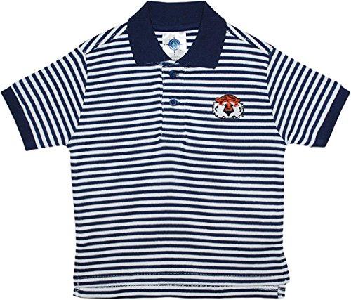 Tiger Striped Polo Shirt - University of Auburn Aubie The Tiger Striped Polo Shirt