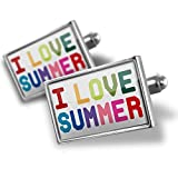 Cufflinks I Love Summer,Colorful - Neonblond