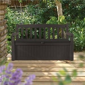 Keter Eden Plastic Garden Storage Bench Box - 265 Litre ...
