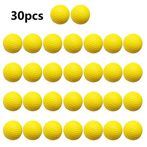 Practice Golf Balls,Smartlife15 Foam Sponge Soft Elastic Golf Balls, Indoor Outdoor Golf Training Aid Balls (Yellow,30pcs)
