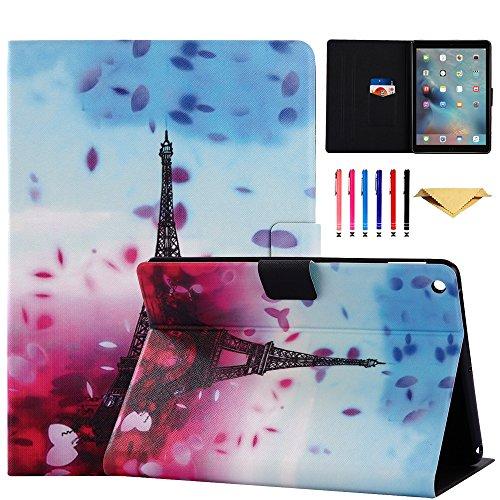 iPad Mini Case,Mini 2 3 Case MonsDirect Leather Smart Kickstand Case Cover Colorful Flip Wallet Protective Case Compatible with Apple iPad Mini 1 2 3, 01 Eiffel Tower (Ipad Eiffel 2 Tower Mini Case)