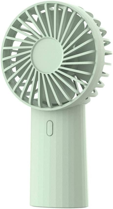 HandFan USB Rechargeable Portable Student Dormitory Mute Handheld Mini Office Desktop Fan Color : Black