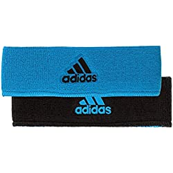 adidas Interval Reversible Headband, Solar Blue/Black, One Size