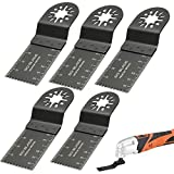 Pukido 5pcs 35mm High Carbon Steel Oscillating Multitool Saw Blades