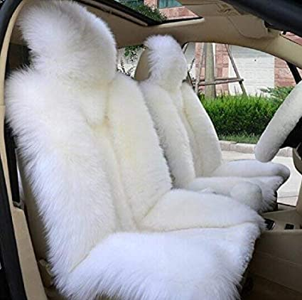 Gracefur 100/% Australia Sheepskin Car Seat Covers Luxury Long Wool Front Seat Cover Fits Most Car SUV Truck Gren tips or Van 1 Piece
