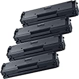 4 Inkfirst® Toner Cartridge D111S (MLT-D111S) Compatible Remanufactured for Samsung D111S Black Xpress M2022 M2022W M2070 M2070F M2070FW M2070W M2071 M2071FH M2071W M2020 M2020W M2021 M2021W
