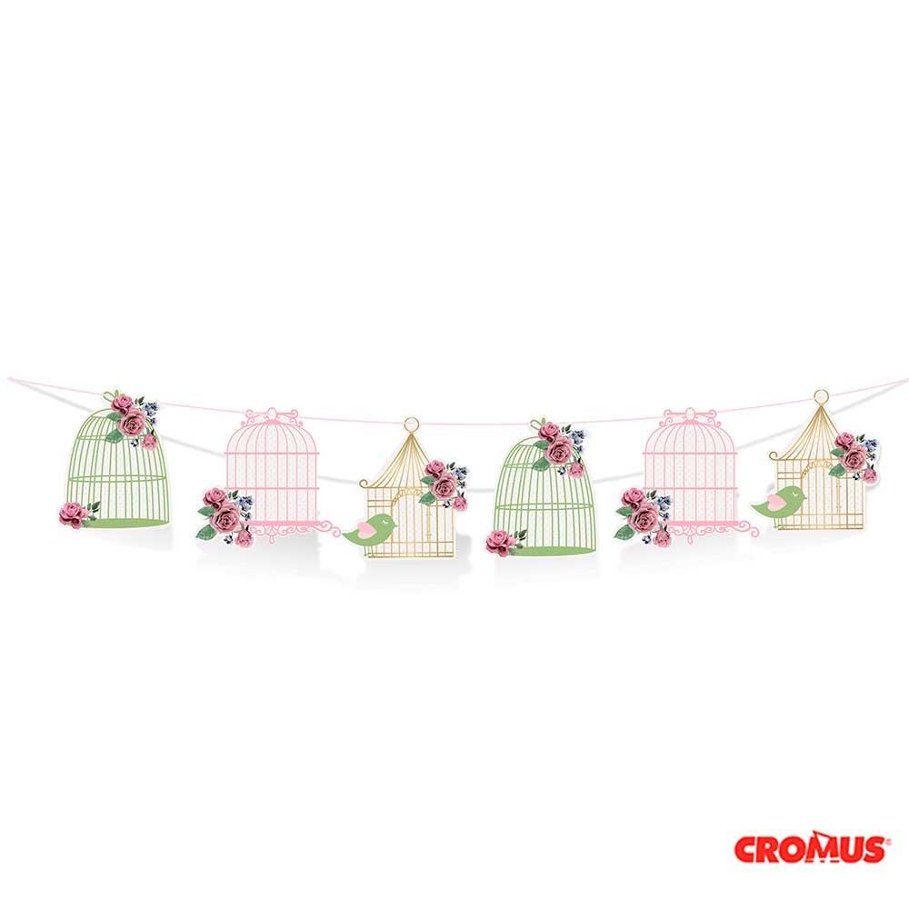 SECRET GARDEN Decorative Bird Cage Band - 1 Piece | Secret Garden Theme Party Supplies | Secret Garden Decoration | Girl Baby Shower | First Birthday Party | Girls Birthday Party | It's a Girl