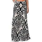 Clearance!Women Maxi Skirt,Connia Casual Vintage Coral Print High Waist Skirt (XL, A)