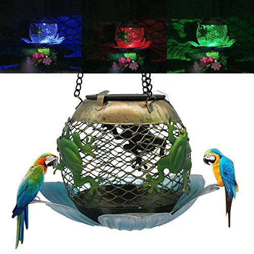Large Bird Multi Feeder With Solar Light